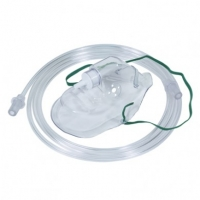Adult oxygen mask with nose clip and oxygen tube 1115000
