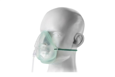 Intersurgical EcoLite , adult, oxygen mask with tube, 2.1m 1135015