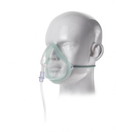 Eco, Adult Medium Concentration Oxygen Mask Non PVC 2.1 M Tube  1135010