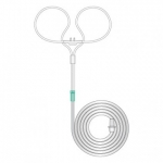 Neonatal curved prong with tube, 2.1m length 1164