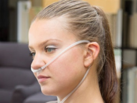 Adult Nasal Cannula Curved Prongs Dual Lumen 1.25m Tube