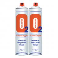 2 X O2 10 Litre Oxygen Can Sport
