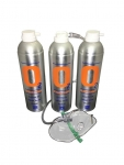 3 X O2 7.2 Litre Oxygen Cans Inc 1 x Mask and Tubing