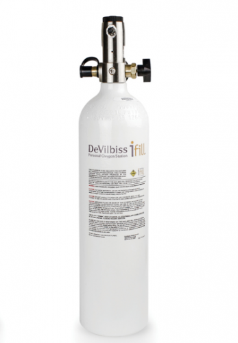 DeVilbiss iFill D Cylinder with constant flow regulator