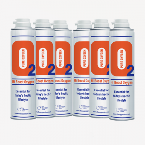 6 X O2 10 Litre Replacement Oxygen Cans