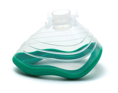 EcoMask Medium Adult Anaesthetic Mask w/ Cushion&Hook Ring 22F Size 4