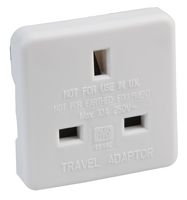 Travel Adaptor UK To US White