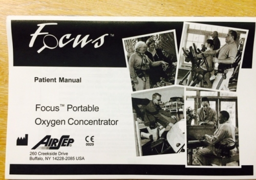 AirSep (Caire) Focus Patient Manual Hard Copy English