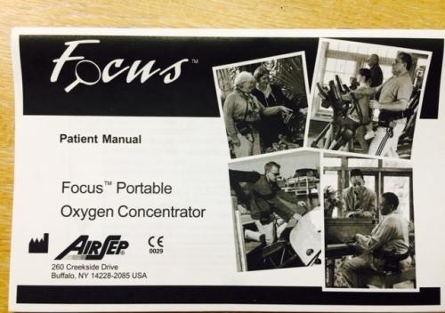 AirSep (Caire) Focus Patient Manual Hard Copy English