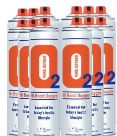 12 X 10 Litre Oxygen Cans Sport