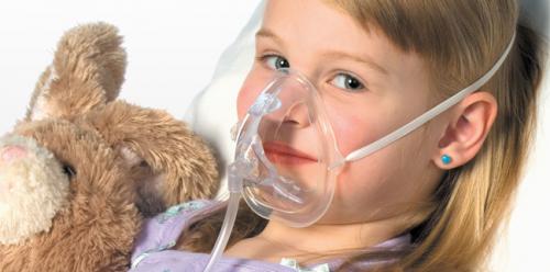 OxyKid™ Pediatric Mask 7′ tubing OK-1125-8