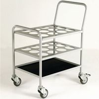 12 Cylinder D or E Size Oxygen Trolley