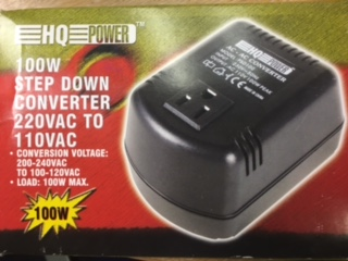 Step  own Power Converter 100W, 220V TO 110V AC Shuko Plug